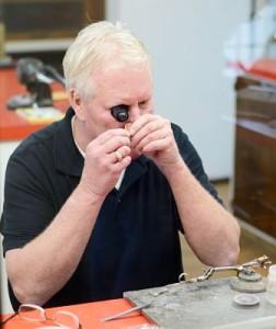 Jim Rose performing Jewelry Repair at the Kalmazoo store